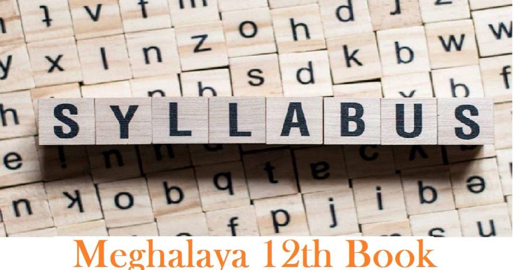 Meghalaya 12th Book