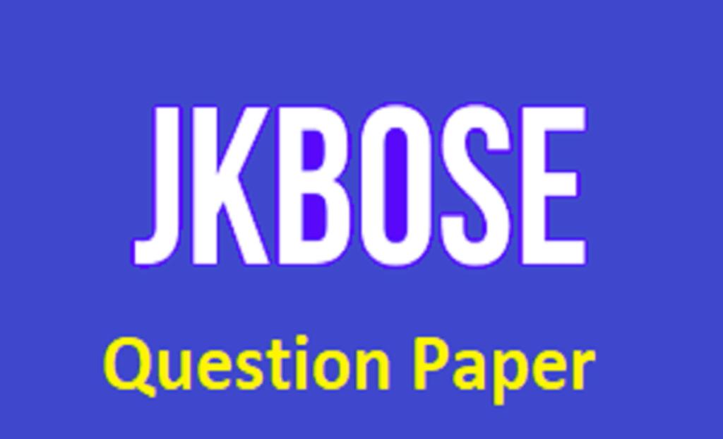 JKBOSE 10th Question Paper 2021
